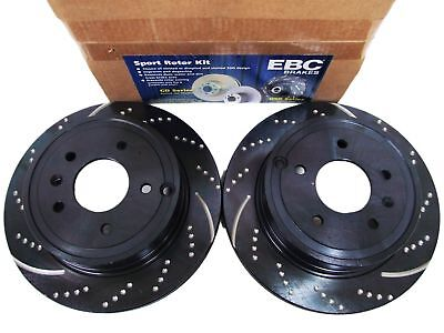 EBC GD741 3GD DRILLED /& SLOTTED SPORT BRAKE ROTORS FRONT