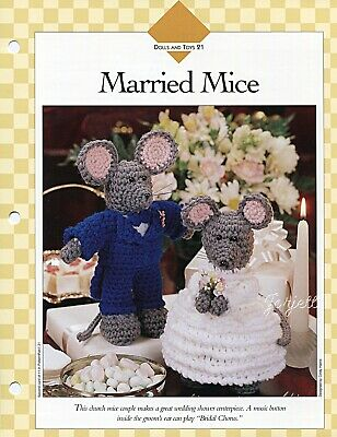 Married Mice, animal mouse crochet patterns