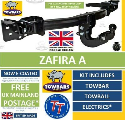Towbar for Vauxhall Zafira A 1999 to 2005 Kit with Towball & Electrics Tow-Trust
