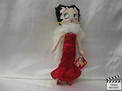 Betty Boop, Applause,  Red gown, White fur Boa, 12 inches tall, Ragdoll,