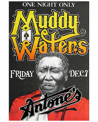 Muddy Waters Concert Poster 8x10 Photo