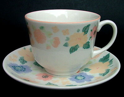 Discontinued Marks & Spencer Midsummer Pattern Tea Cups & Saucers - Look in VGC