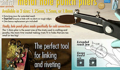 Bead Smith Metal Hole Punch Pliers  *3 Sizes to Choose