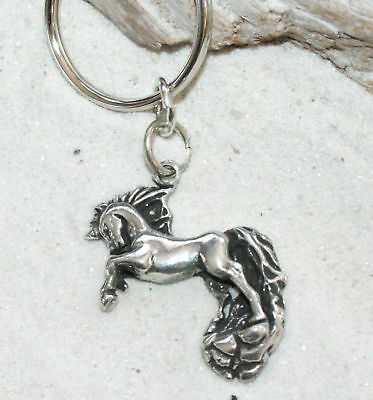 UNICORN FAIRY HORSE HORN Pewter KEYCHAIN Key Chain Ring