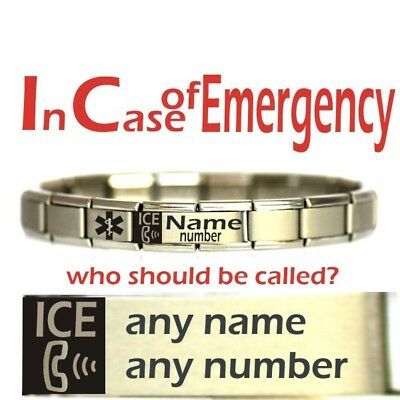 Personalised Emergancy Contact MEDICAL ALERT BRACELET