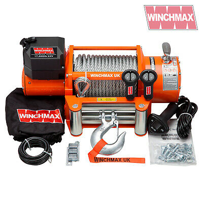 ELECTRIC WINCH 24V RECOVERY 4x4 17000 lb WINCHMAX BRAND