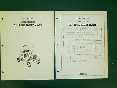 """Amf Western Tool 24"""" Riding Mower Parts Manual 12380000"""