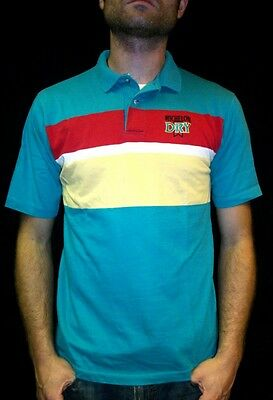 Vtg MICHELOB DRY POLO SHIRT retro punk 80s indie BEER ipod jacket music emo soft