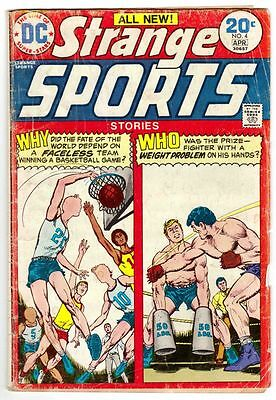 STRANGE SPORTS STORIES #4 (4/74)--GD / All-New Stories; Giordano-a^^^