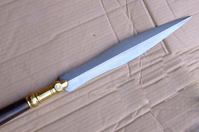 Damascus steel ancient Chinese spear tip Long pike longquan sword china Kung fu