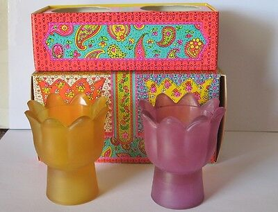 Avon Floral Medley Candle Holders Tulips Flowers