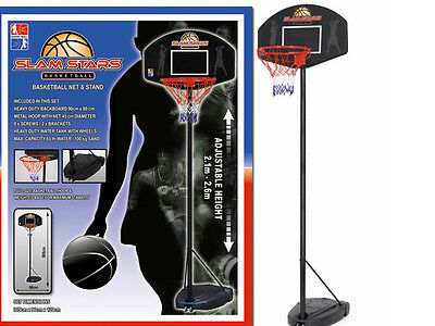 New Basketball Hoop Net Full Sized + Adjustable Stand