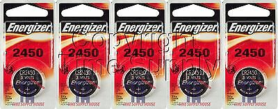 5 ENERGIZER 2450 Lithium Watch Batteries CR2450  Expire 03/2024