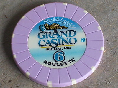 ROULETTE CHIP FROM THE GRAND CASINO (P6) BILOXI MS