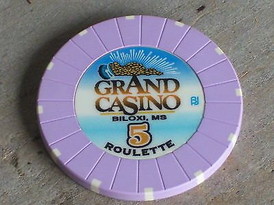 ROULETTE CHIP FROM THE GRAND CASINO (P5) BILOXI MS