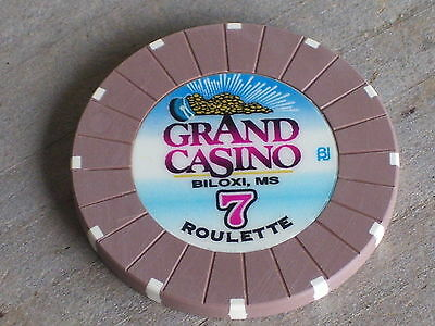 ROULETTE CHIP FROM THE GRAND CASINO (B7) BILOXI MS