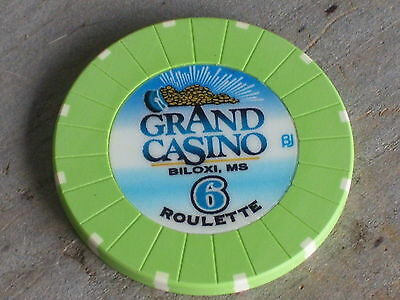 ROULETTE CHIP FROM THE GRAND CASINO(G6) BILOXI MS