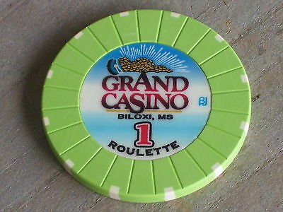ROULETTE CHIP FROM THE GRAND CASINO(G1) BILOXI MS
