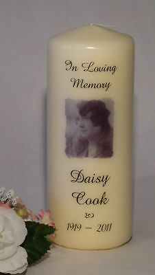 IN LOVING MEMORY REMEMBRANCE CANDLE Personalised