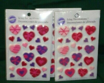 Hearts,Princess,Edible Cupcake Toppers,Icing Decorations,Wilton,710-1079,Pink