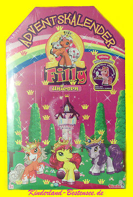 Adventskalender*filly Unicorn + Weihnachtseinhorn*ovp