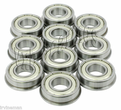 "10 Flanged SFR166ZZ 3/16""x 3/8""x 1/8"" SFR166Z Stainless inch Steel Ball Bearings"