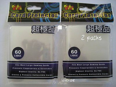 2 Packs - POKEMON SIZE DECK CARD PROTECTOR SLEEVES 120ct - CLEAR COLOR