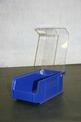 Akro-Mils Blue Storage Bin w/ Clear Lid 30-221