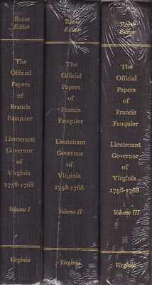 Official Papers of Francis Fauquier, Lt. Gov. 1758-68