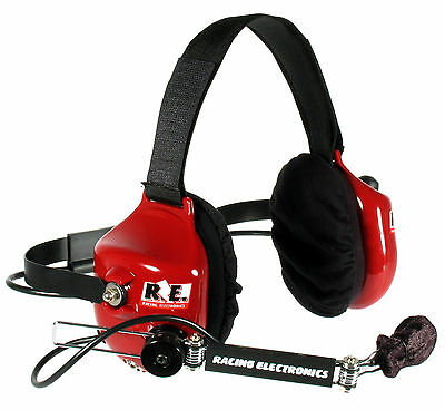Racing Electronics Legacy Racer 2 Way Headset #re005 Push Button Mic Boom