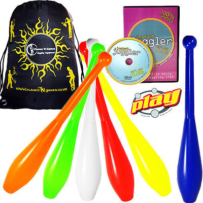 Club Juggling Set 1-Piece Juggling Clubs & FREE DVD