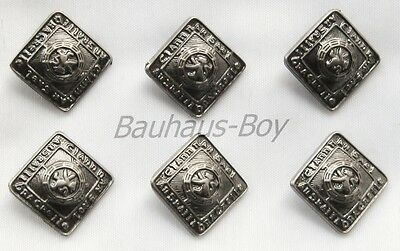 6 Replacement Buttons Prince Charlie Argyll Jackets 19Mm Antique Finish Kiltwear