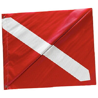 20 Inch x 24 Inch Diver Down Flag with Stiffener for Boats