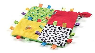 New Playgro Loopy Loops Blankie Rattle Baby Toy 3m+