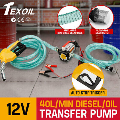 TEXOIL 12V DC Electric Bowser Oil Transfer Pump Auto Diesel Water BioDiesel Fuel