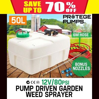 New Protege 50L Atv Garden Weed Sprayer 12V Pump Driven Spot Spray Chemical Tank