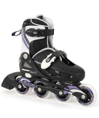 Adjustable Inline Girls Roller Skates Blades Sizes 12, 13, 1 & 1, 2, 3, 4 NEW