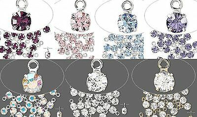 24 Or 144 Swarovski Crystal Drop Charms 4x7mm *Many Colors Available