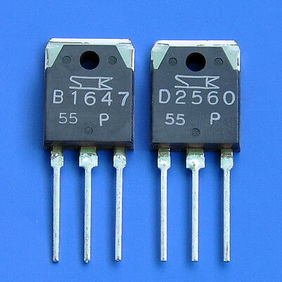 2SB1647 & 2SD2560 Audio Hi-Power Darlington Transistors
