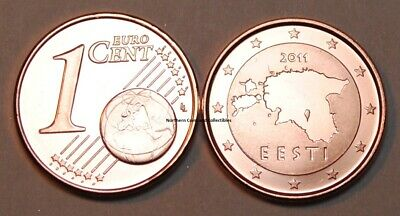 2011 Estonia 1 Cent Coin Unc from Roll BU Nice