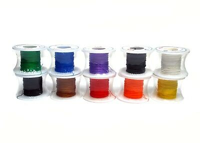 10 Rolls 10 colors Wire-Wrapping Wire Silver-Plated copper wire RoHS 80Ft 28AW