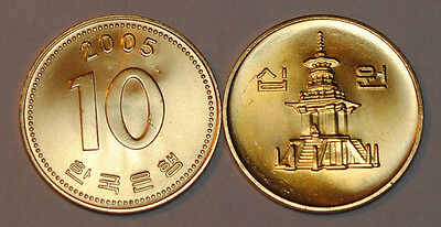 2005 South Korea 10 Won Coin BU Very Nice  KM# 33.2