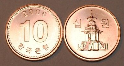 2006 South Korea 10 Won Coin BU Very Nice  KM# 103