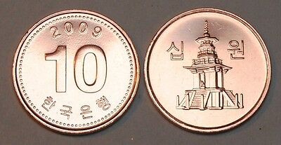 2009 South Korea 10 Won Coin BU Very Nice  KM# 103