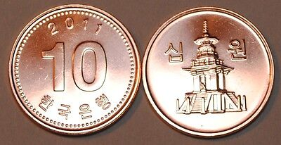 2011 South Korea 10 Won Coin BU Very Nice  KM# 103