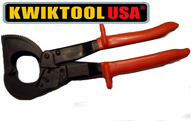 Ratcheting Cable Cutter KWIKTOOL USA,WARRANTY FREE SHIP