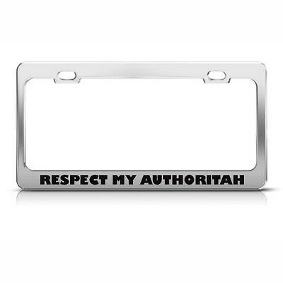 HUMOR FUNNY Metal License Plate Frame Tag Holder WHY SO SERIOUS