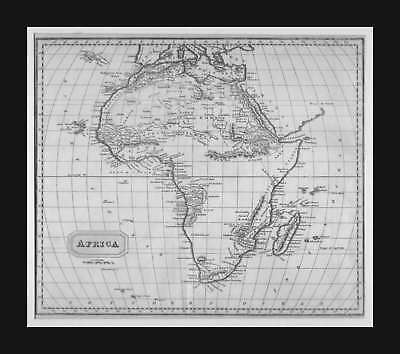 Africa, Christopher Kelly Map, antique, matted, original, scarce,  1814