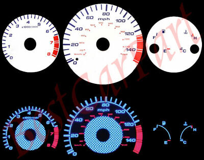 98-02 Accord l4 MT BLUE INDIGLO GLOW WHITE GAUGES