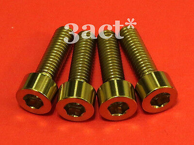 RISK 4PCS M6×18//20mm Titanium Ti Bolts Screws for MTB Disc Brake Caliper R9K2